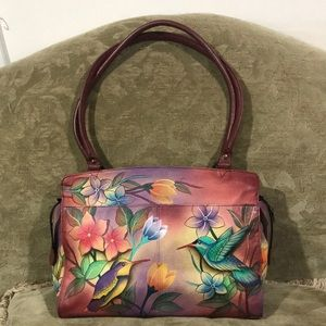 Anuschka Bag. Large w/ Birds & Flowers